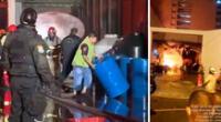El fuego habría sido producto de un corto circuito y se habrían consumido aproximadamente 17 cilindros de alcohol, según Mario Casaretto.