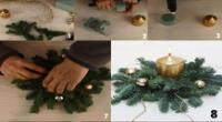 Un centro de mesa navideño hecho por ti.