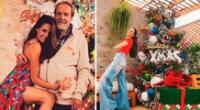 Rebeca Escribens celebró la Navidad junto a su papá.
