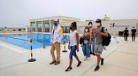 Deportistas inspeccionaron los ambientes del Centro de Alto Rendimiento.