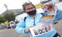 Trabajadores protestan por la falta de renovación de convenio con la municipalidad.