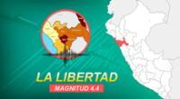 Sismo con epicentro en Trujillo se sintió a las 8:15 de la mañana de este viernes, según IGP.