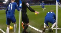 Peculiar imagen del jugador del Chelsea se hizo viral en las redes sociales.