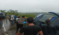 Un bus se despistó en la carretera Federico Basadre, en Ucayali.