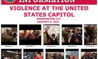 Una ficha difundida por FBI con fotografías de las personas implicadas en el asalto al Capitolio de EE UU.