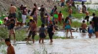 Sin temor al coronavirus ni a su nueva variante, cientos de familias asistieron al río Lurín para 'disfrutar' del verano frente a la restricción de playas hasta el 17 de enero.