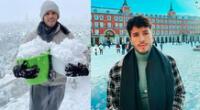 Sebastián Yatra se reporta desde Madrid que atraviesa una fuerte tormenta de nieve