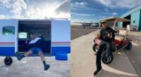Los chicos reality Said Palao y Hugo García llevaron un curso de preparación para poder desafiar la altura y realizar paracaidismo por su cuenta.