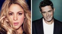 Alejandro Sanz recuerda grabación de tema 'Te lo agradezco pero no' junto a Shakira.