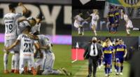 Boca Juniors no pudo ante Santos y le dijo adiós a la Copa Libertadores | Foto: EFE/composición