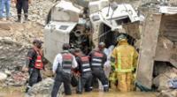 Al lugar de los hechos llegaron 8 unidades de bomberos, serenos y personal de Gestión de Riesgo y Desastres.