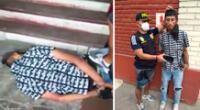 El delincuente de 26 años fue trasladado hasta la comisaría de La Victoria donde será denunciado por la mujer y luego ser puesto a disposición del Ministerio Público.