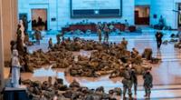Agentes de la Guardia Nacional en los alrededores del Capitolio, este miércoles 13 de enero.