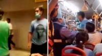 Los propios usuarios del bus tuvieron que sacarlos a la fuerza y al momento de ser expulsados, continuaron agrediendo a otros tripulantes, así como a otro pasajeros que esperaban una línea del Metropolitano.