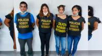 Los detenidos por agentes de Robos de Dirincri