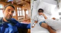 El accidente le causó 14 heridas en la pierna al menor de edad.