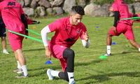 Adrián Ugarriza en pleno trabajo físico