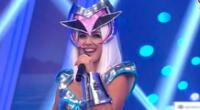 Rosángela Espinoza sorprendió al pisar el set de Esto es guerra con un llamativo look al estilo Lady Gaga, con el que mostró sus mejores pasos.