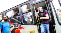 Los trabajadores deberán utilizar mascarilla y protector facial en el transporte público.