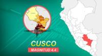 Sismo en Cusco ocurrió a las 05:56 de la mañana de este viernes 29 de enero, según detalló IGP.