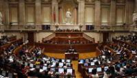 Sesión parlamentaria en Lisboa, Portugal.