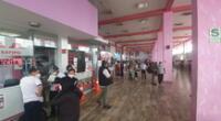 Terminal de Yerbateros a un día de la cuarentena.