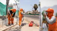 Obras de la  Municipalidad de Lima en Los Olivos.