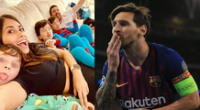 Lionel Messi y Antonella Roccuzzo fueron noticia en las redes sociales.