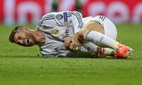 Sergio  Ramos estará seis a ocho semanas fuera de la cancha.