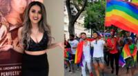 La cantante Amy Gutiérrez se mostró a favor de la comunidad LGTBIQ y se refirió como personas muy valiosas, íntegras y valientes.