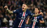 Icardi celebra su gol marcado  al Olympique de Marsella.