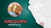 Sismo en Arequipa ocurrió a las 4:11 de la tarde de este lunes 8 de febrero, según informó IGP.