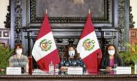 Su palabra. Premier Violeta Bermúdez asegura que protocolos de ONPE garantizan que la primera vuelta electoral no generará contagios. Pero, como se sabe, el coronavirus es impredecible. Foto: PCM
