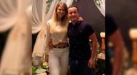 La empresaria Brunella Horna llenó de halagos al expresarse de su pareja, Richard Acuña.