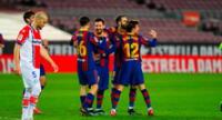 Messi sigue marcando goles y anotó dos en la victoria ante Alavés.