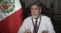 Francisco Sagasti dio un mensaje a la Nación este martes.