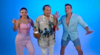 Christian Domínguez, Cielo Torres y Melcochita se lucen juntos.