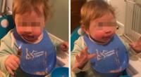 Bebé se vuelve viral por su reacción al probar chocolate por primera vez