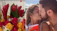 Frank Dello Russo presenta a su novia en San Valentín.