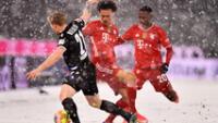 Bayern Múnich empató 3-3  con equipo que se encuentra en descenso y en una cancha con granizada.