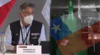Francisco Sagasti anuncia donación de oxígeno al Perú.
