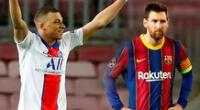 Mbappé opacó a Messi con sus tres goles en el Barcelona vs. PSG.