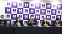 Bancada Morada envía oficio por su exclusión a comisión de investigación.