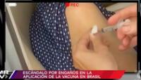 El proceso de vacunación contra el coronavirus en Brasil se ha visto envuelto en una gran polémica generada a raíz de unas denuncias.