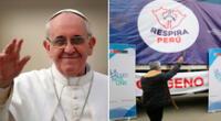 """""""Su Santidad saluda con afecto a los organizadores y colaboradores de la iniciativa solidaria 'Respira Perú'"""", se indica en la misiva."""