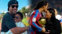 Ronaldinho mostró su dolor por la muerte de su madre.