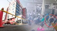 Todo fue captado por las cámaras de seguridad que se encontraban al interior de la clínica Limatambo.