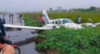 avioneta sufre de aparatoso accidente