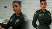 Andrea Cortés se convirtió en leyenda en la policía colombiana.