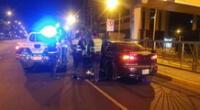 Serenos de Lima frustran huida de conductor involucrado en accidente de tránsito